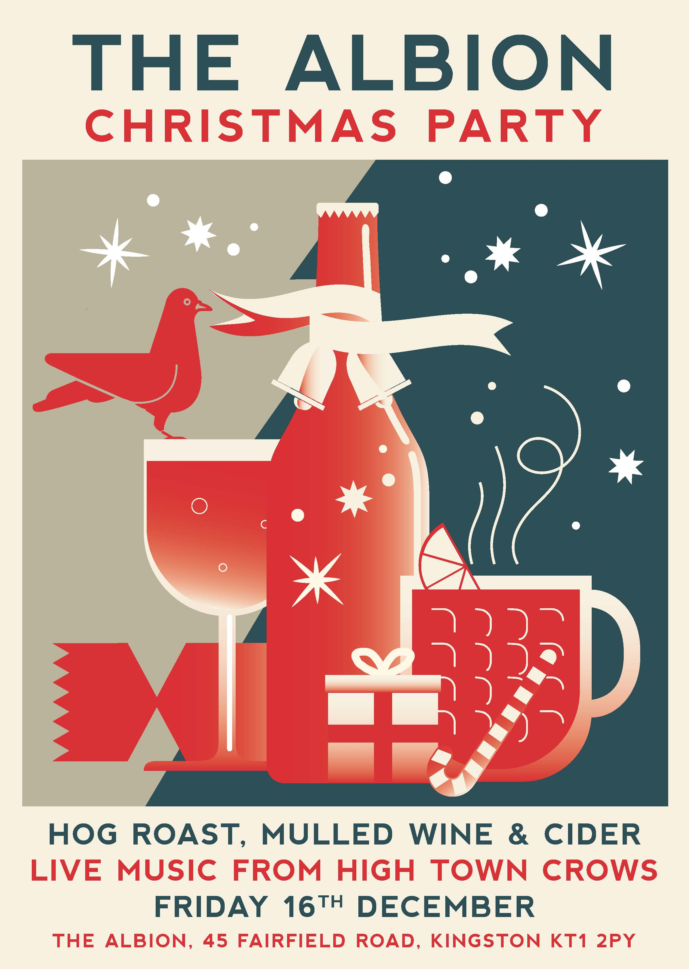 We're having a Christmas Knees Up and you're invited! Live music, hog roast in the garden and lots of Crimbo cheer. Come along and help us celebrate the most wonderful time of the year (apart from summer, which is clearly better).