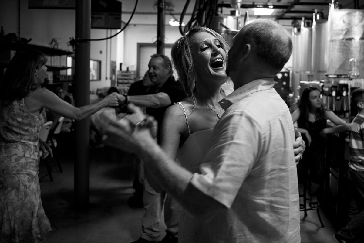 Wedding couple first dance in Iowa