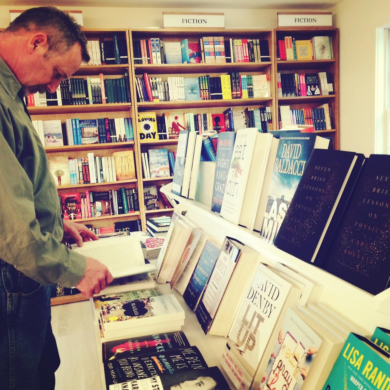 Chris perusing the Sea of Books.