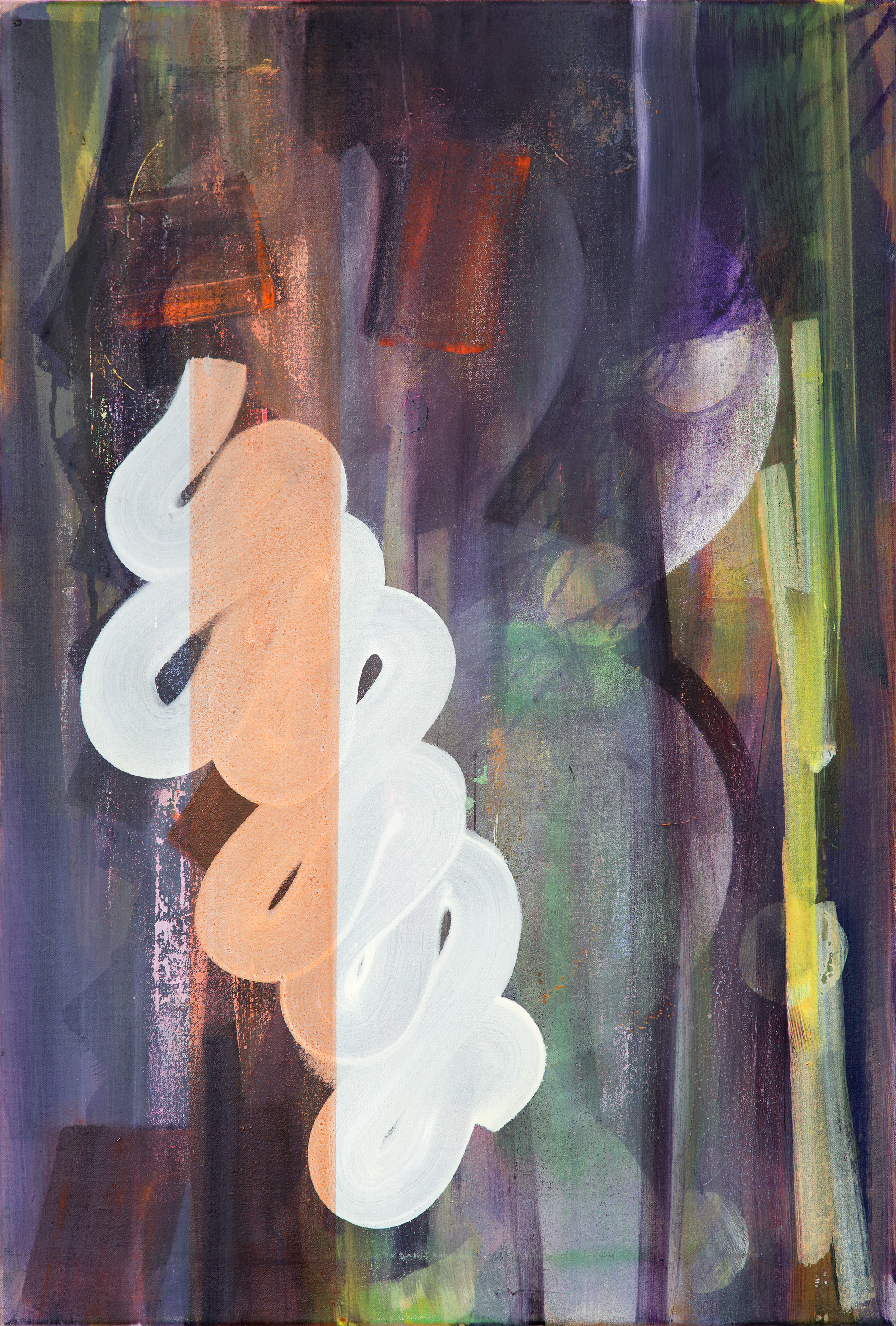 Hard Copy 2, oil on linen, 75cm x 45cm, 2015
