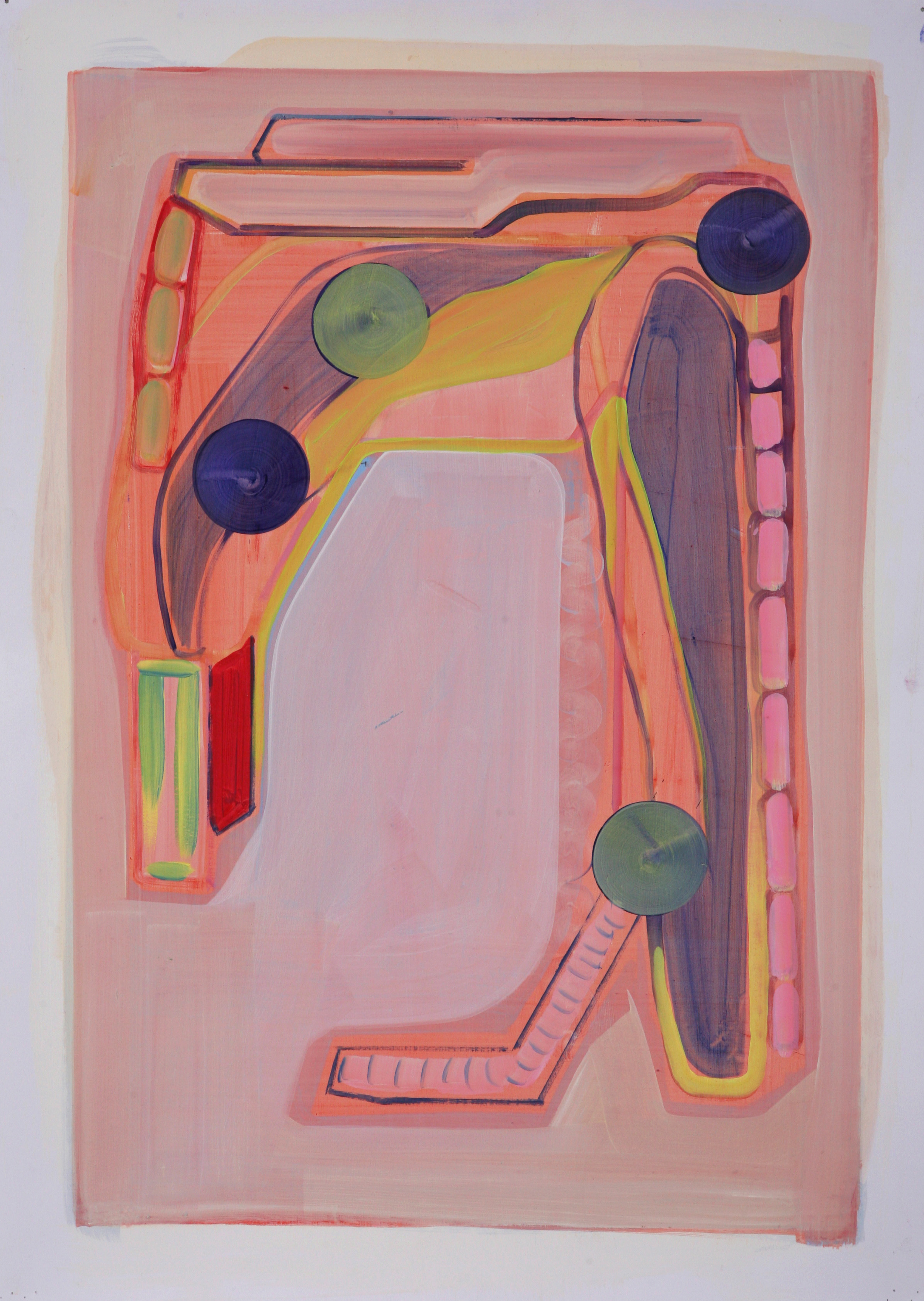 Untitled (hanging), 2013, oil on paper, 59cm x 42cm