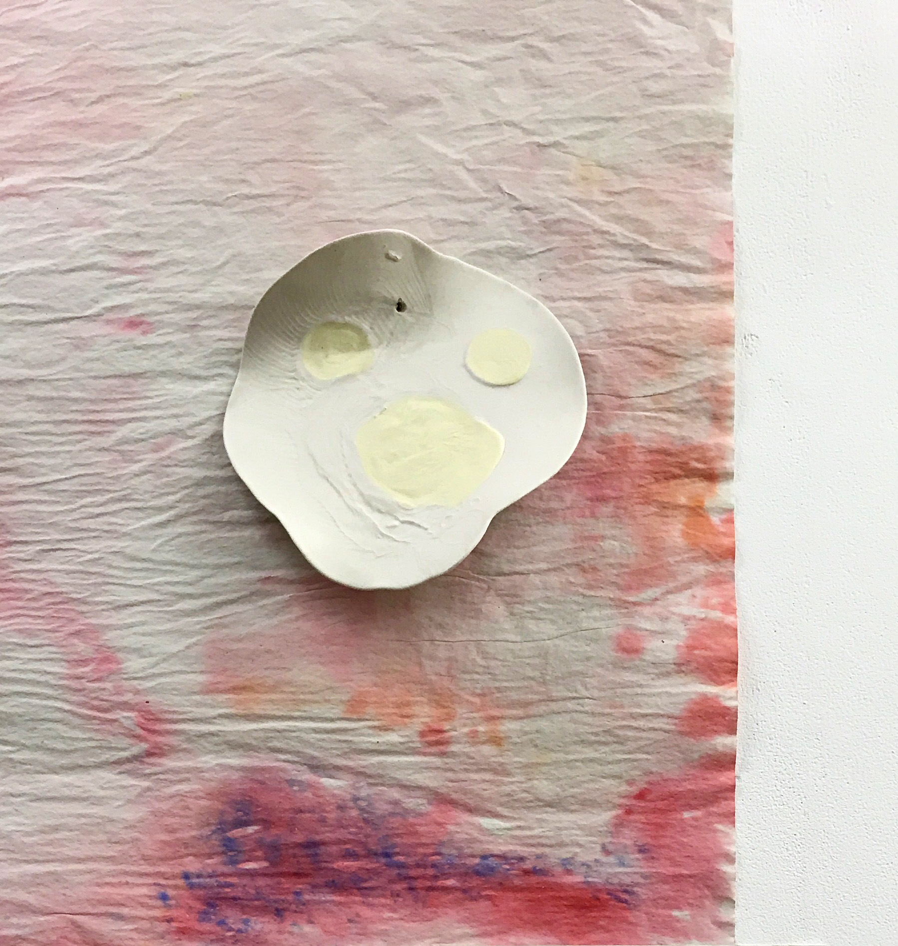 Paper, watercolour, unglazed porcelain, 2018