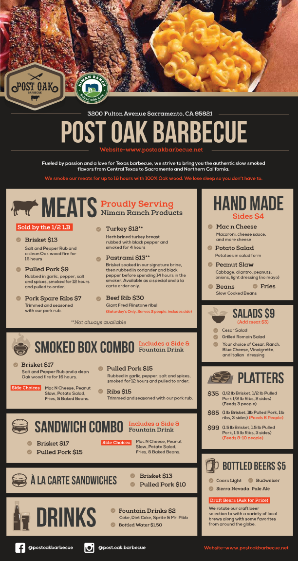 Post Oak Barbecue Sacramento Food Truck Catering