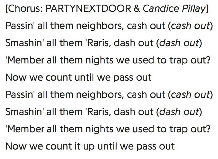 """- PND on """"Cash Out"""""""