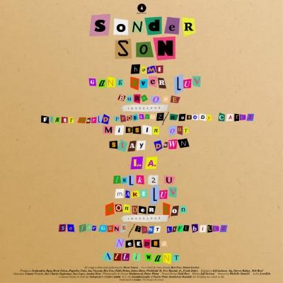 *back of  Sonder Son  album cover