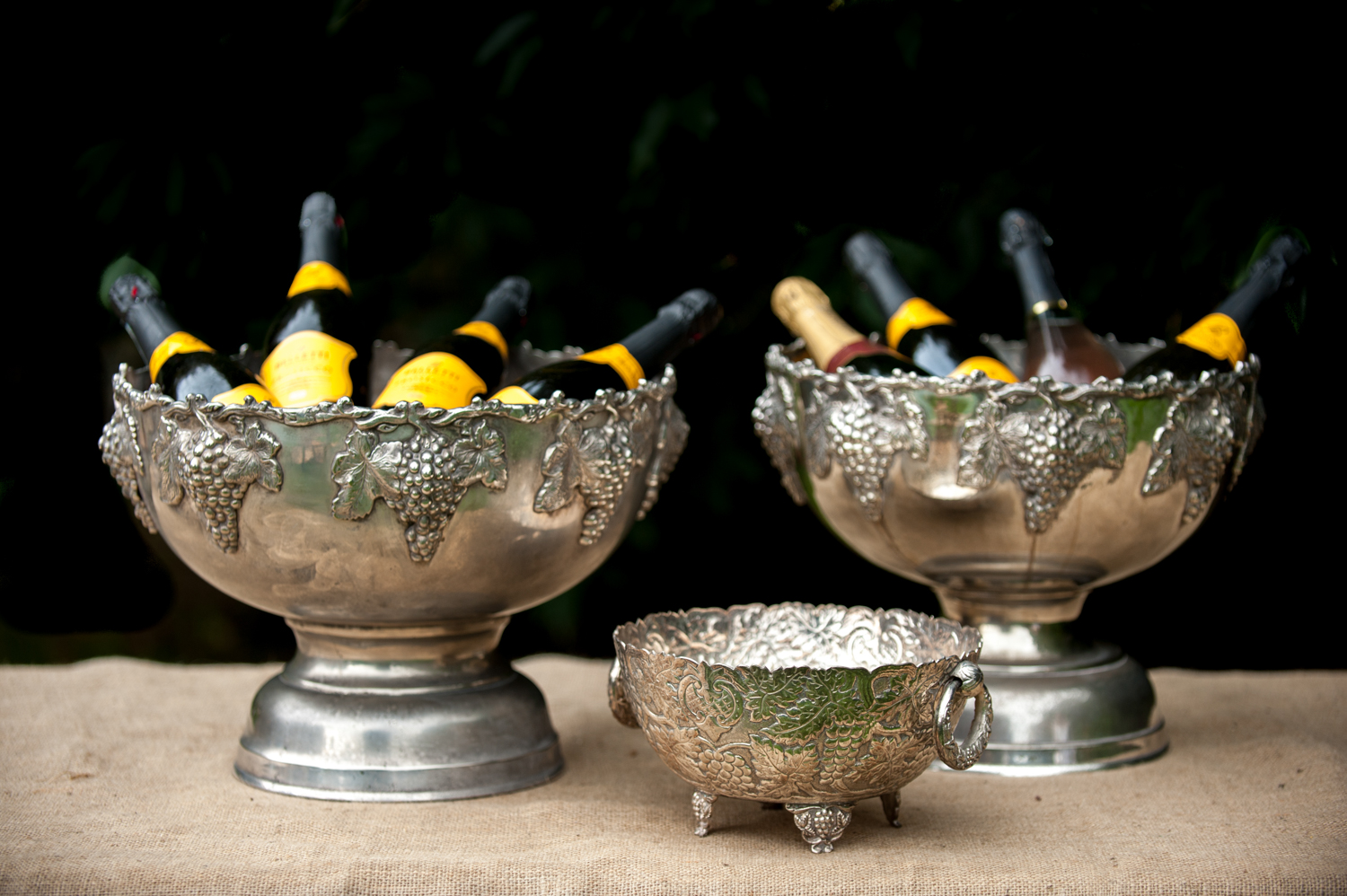 Champagne bowl holder, large - £20 + medium £18