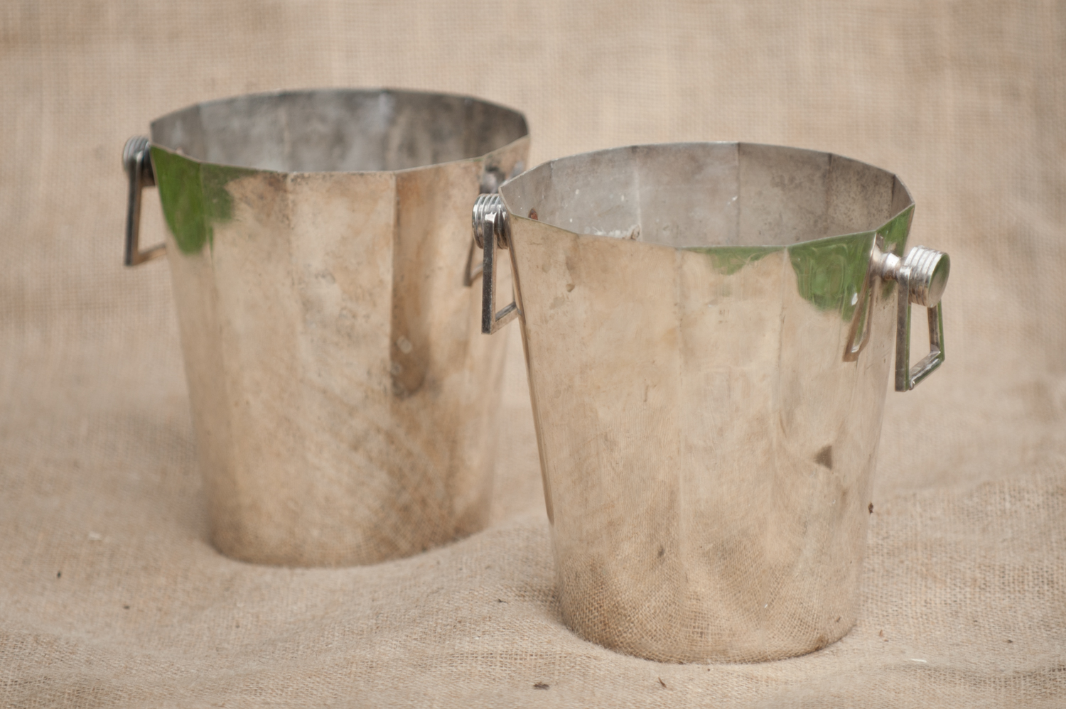 Art deco silver plated champagne buckets - £5 each