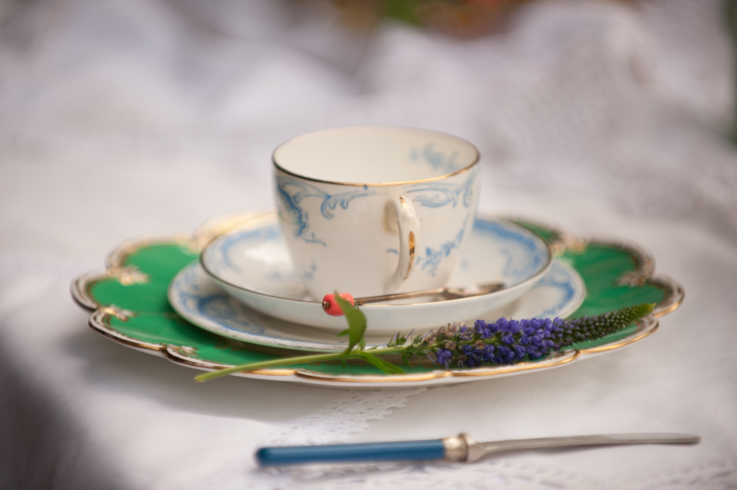 Vintage Tea Cup, Saucer and Plate.