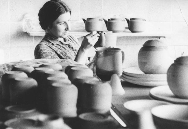 In her Boulder, Colorado studio. (1961)