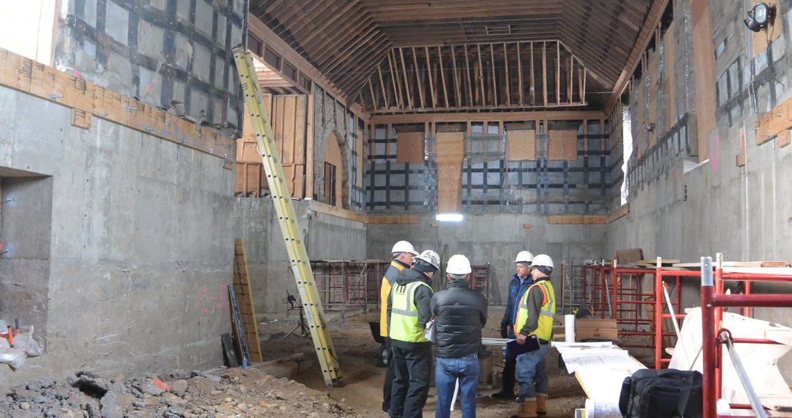 Photo of Milo team inside historic Boulder Depot during renovation.