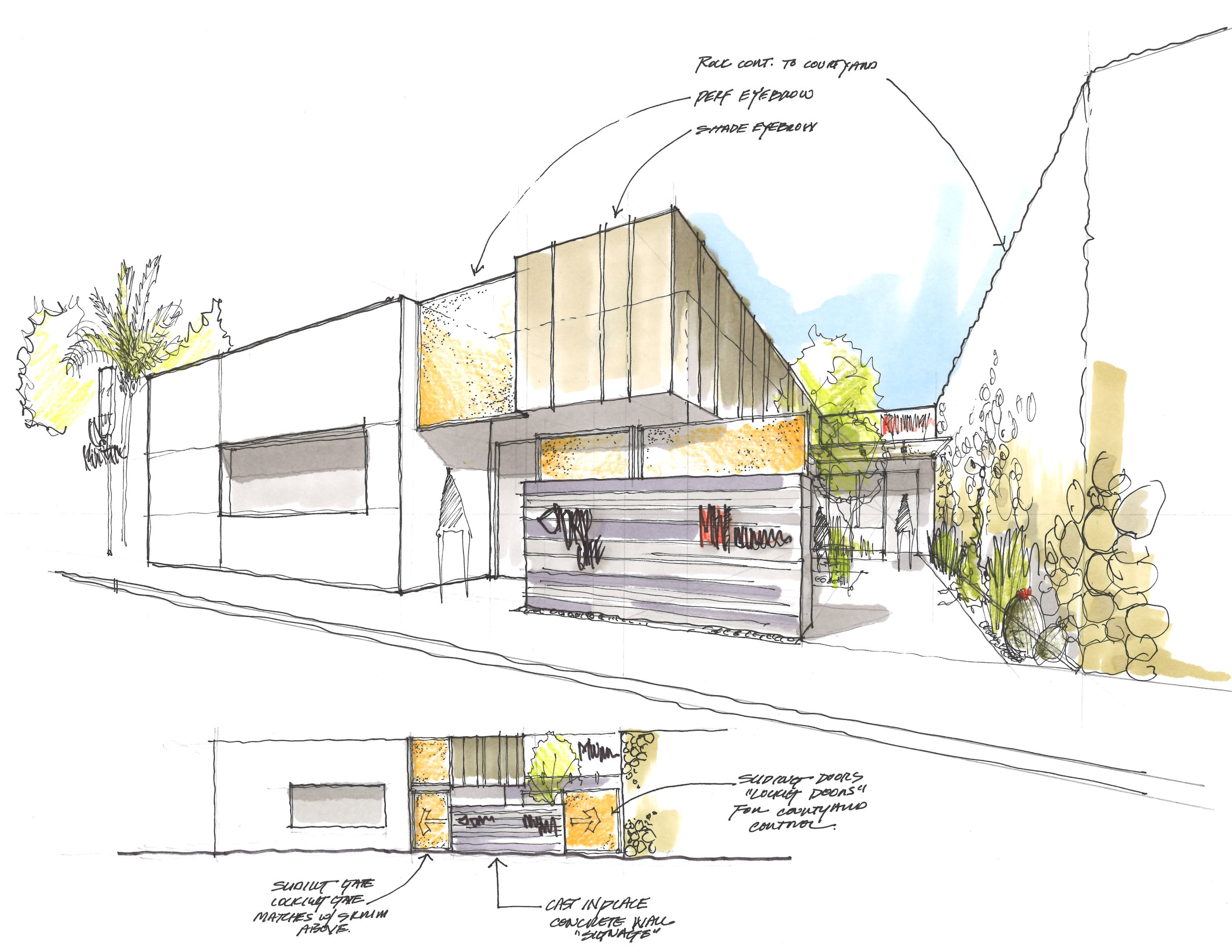 MW Offices - Entry Perspective/Elevation