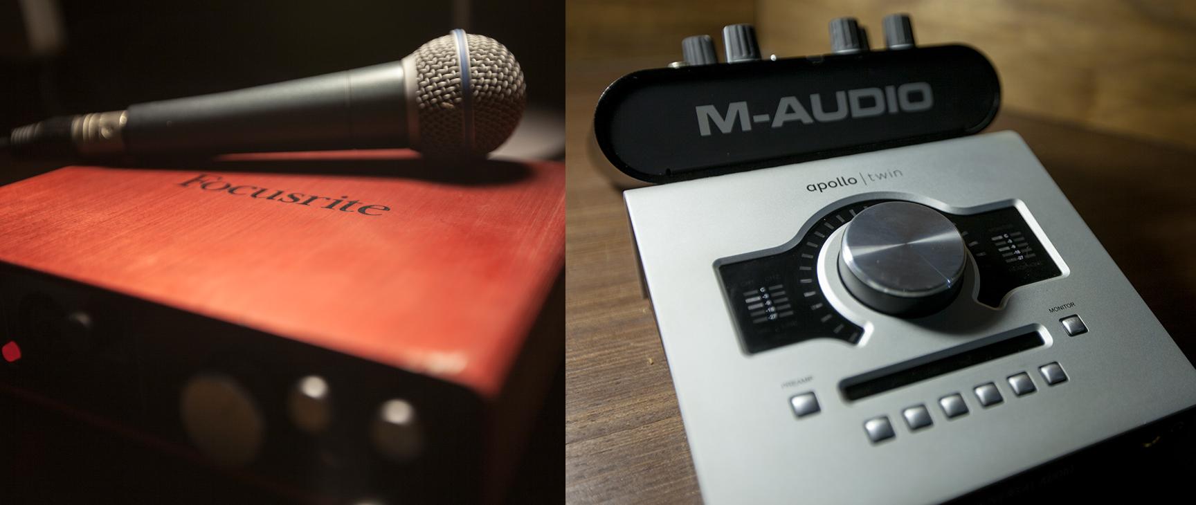 Placas de Som - Focusrite Scarlett 6i6                 Apollo Twin -Universal Audio