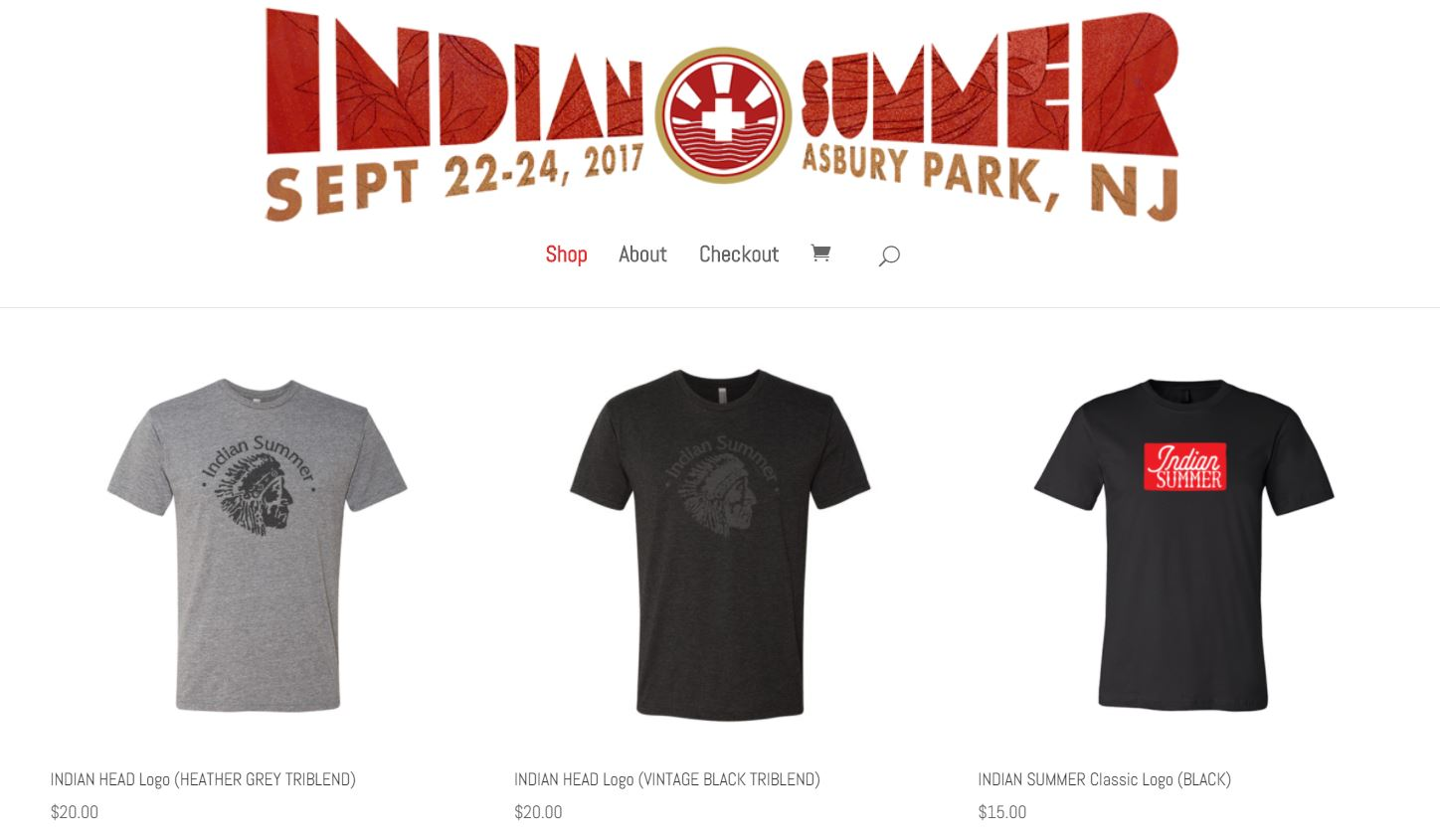 Indian Summer Store - Why wait until Indian Summer to pick up your new favorite T-Shirt? You can now purchase these high quality, locally printed shirts at In the Clouds.
