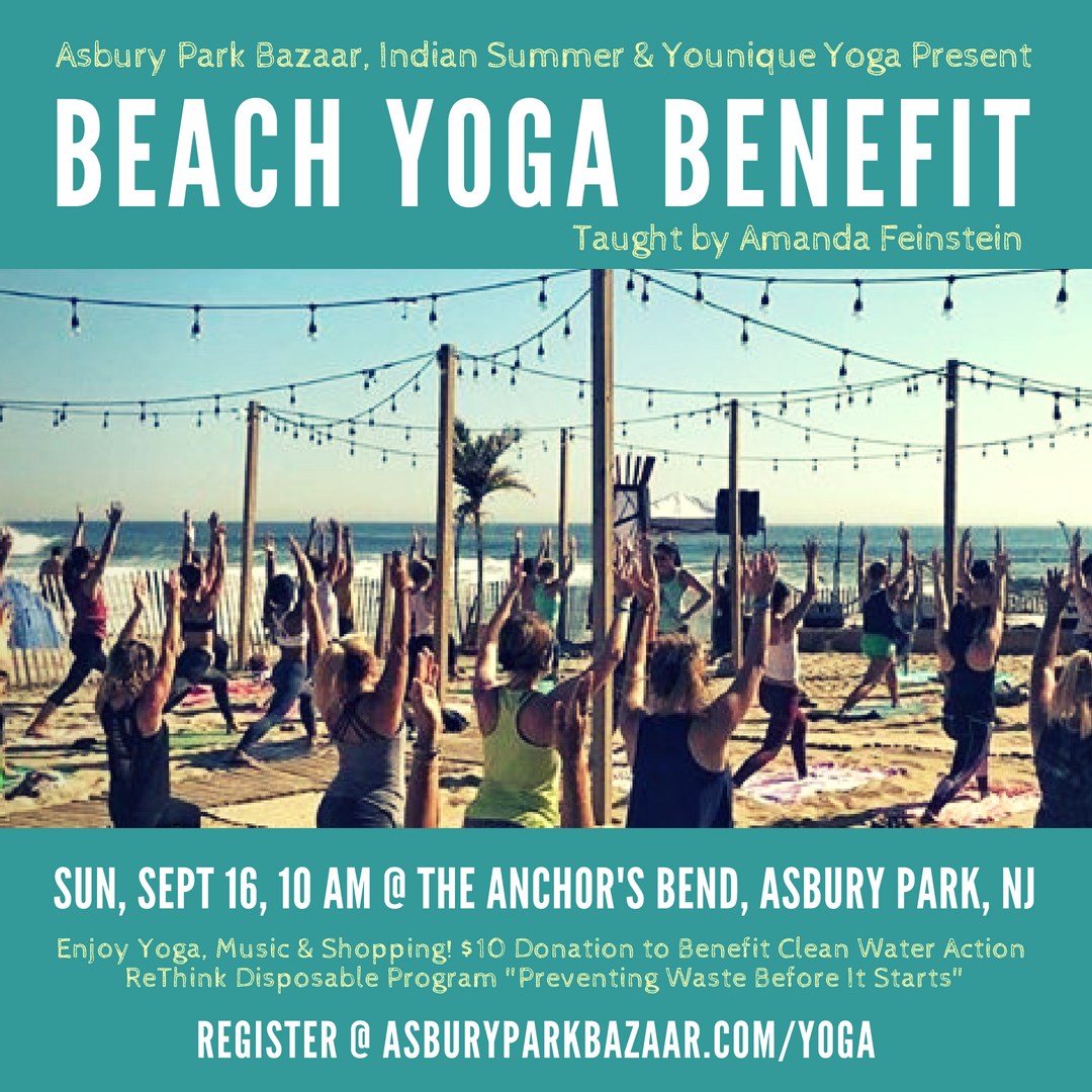 Beach Yoga Benefit for ReThink Disposable Fall Bazaar Indian Summer 2018.png