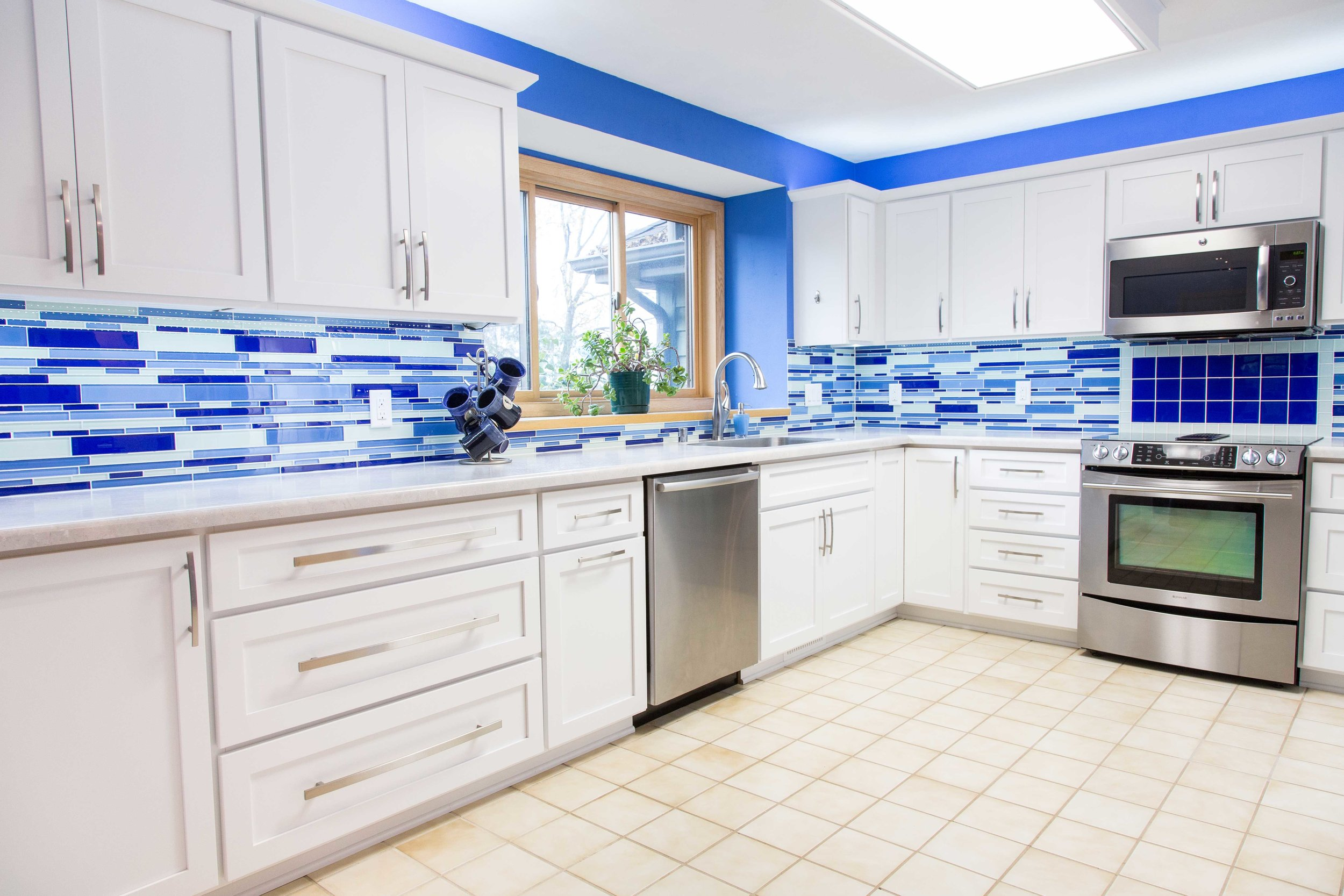 Blissful Blue Kitchen -   COTY AWARD 2014