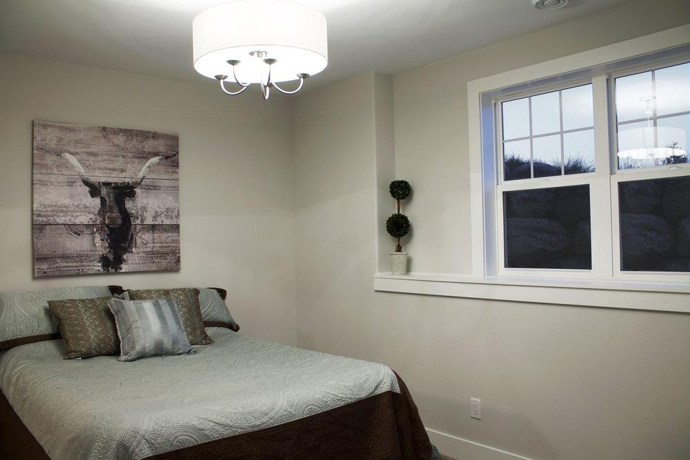 Basement Bedroom with Windows