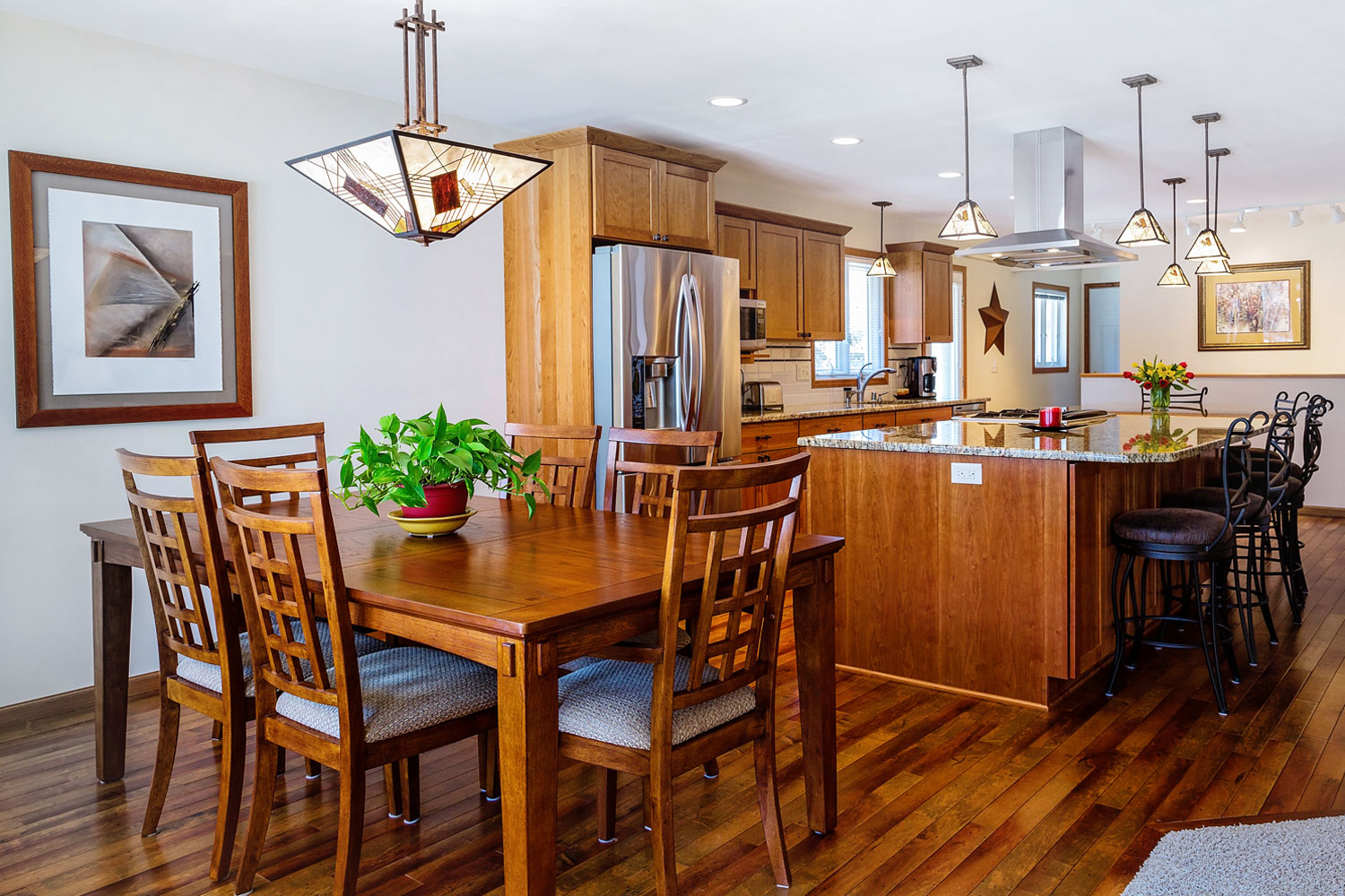 Open Concept Kitchen and Dining Room