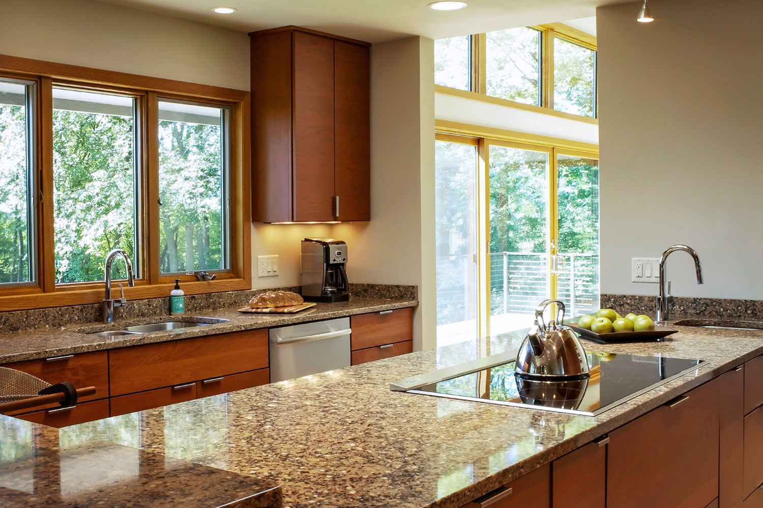 large kitchen Windows Over The Sink