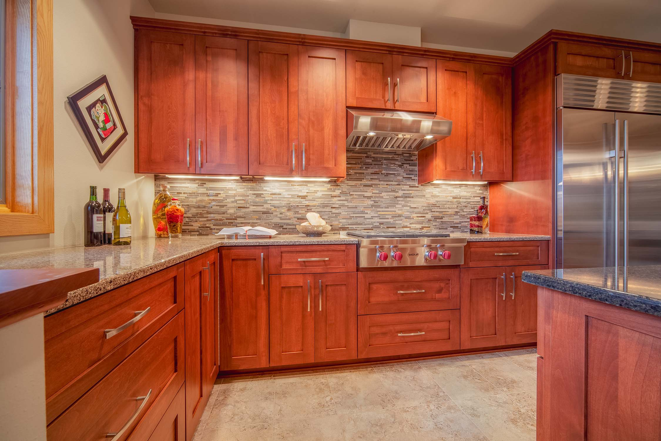 Wolf appliances, range, cooktop and range hood, Kitchen design, Madison, WI.