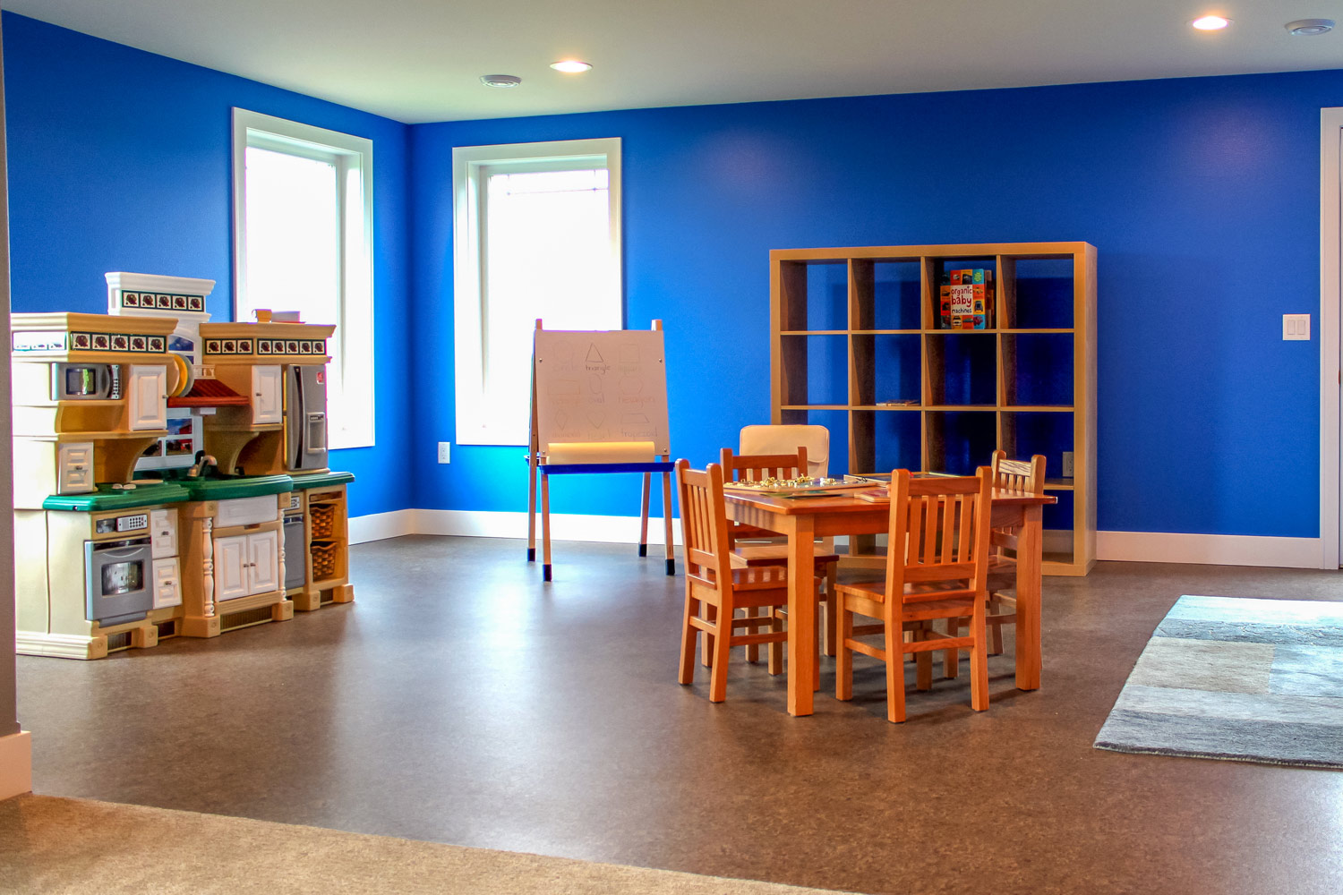 Modern Accessible Basement playroom