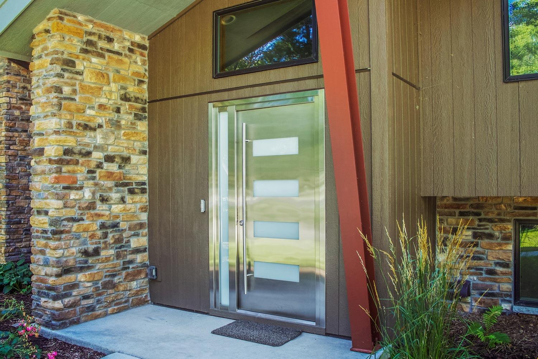 Stainless Steel Front Door