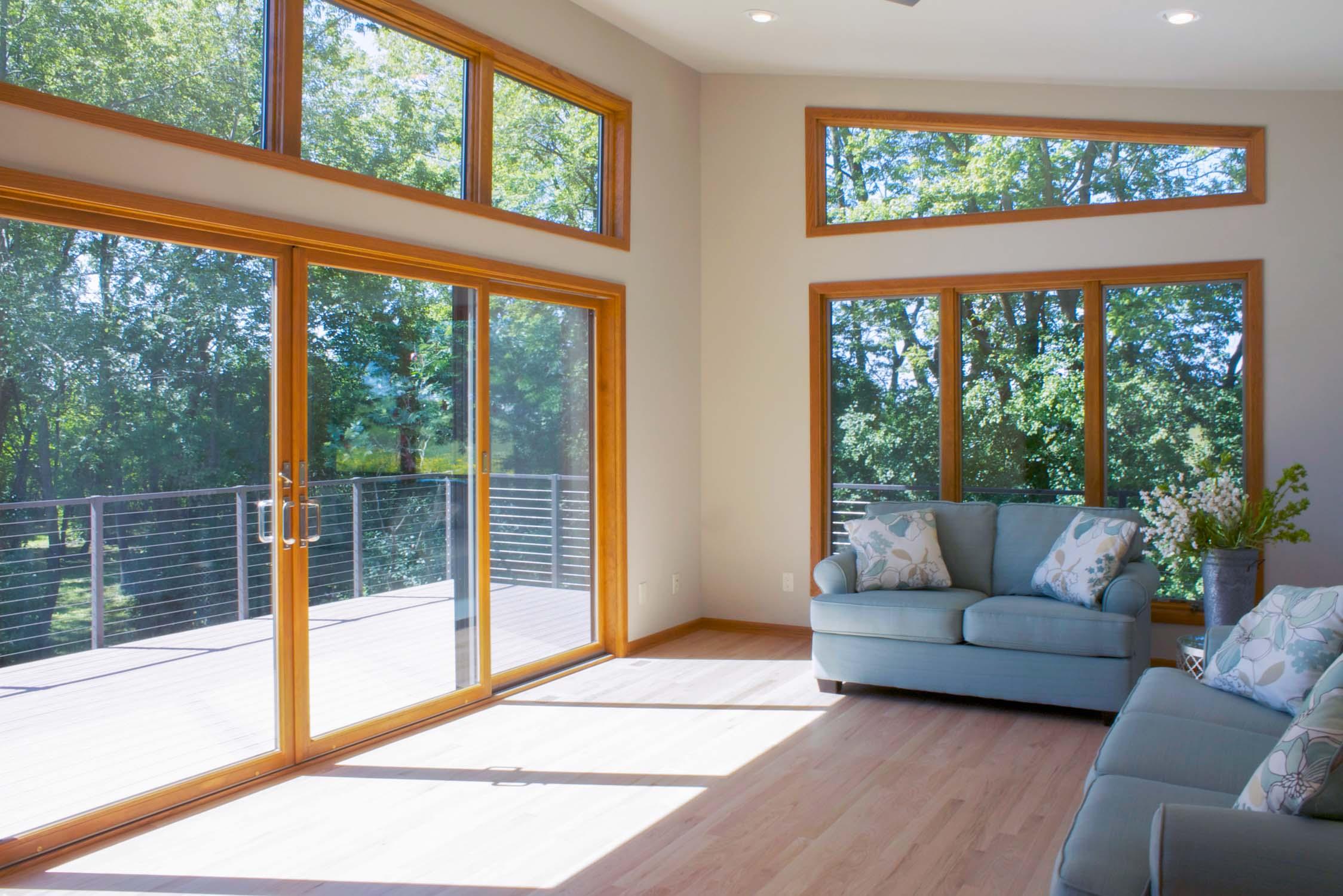 Sunroom with Oversized Windows