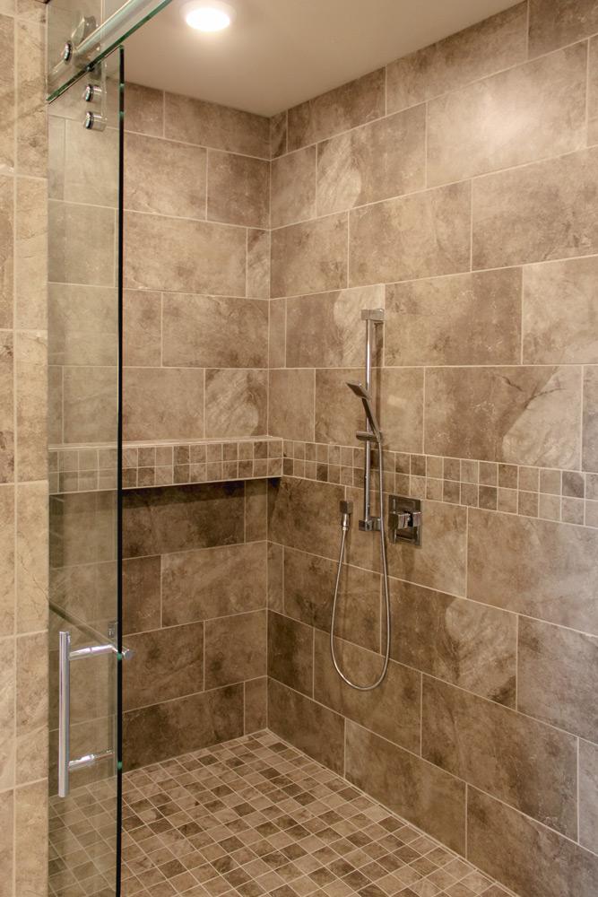 Elegant Accessible Master Bath Shower