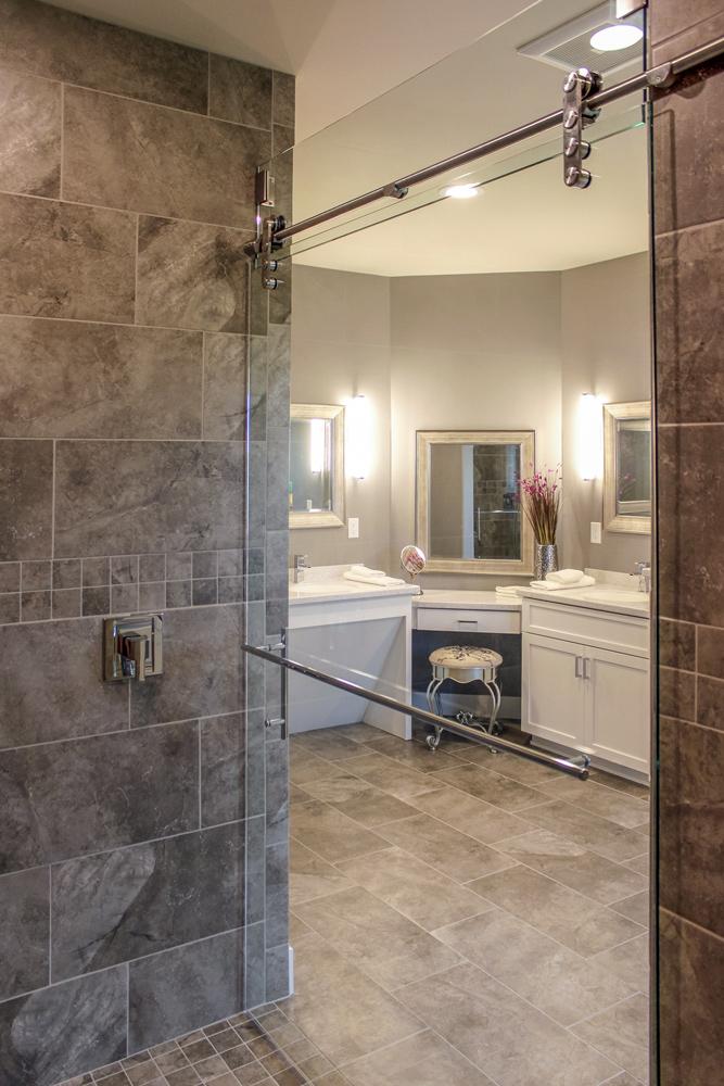 Elegant Accessible Master Bath Makup Vanity