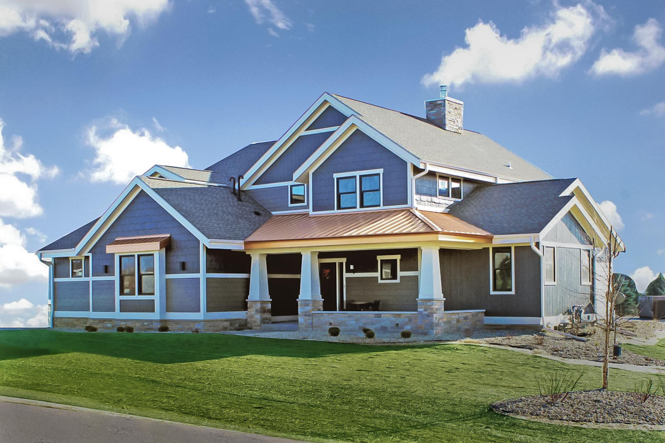 Classic Contemporary new Home Construction