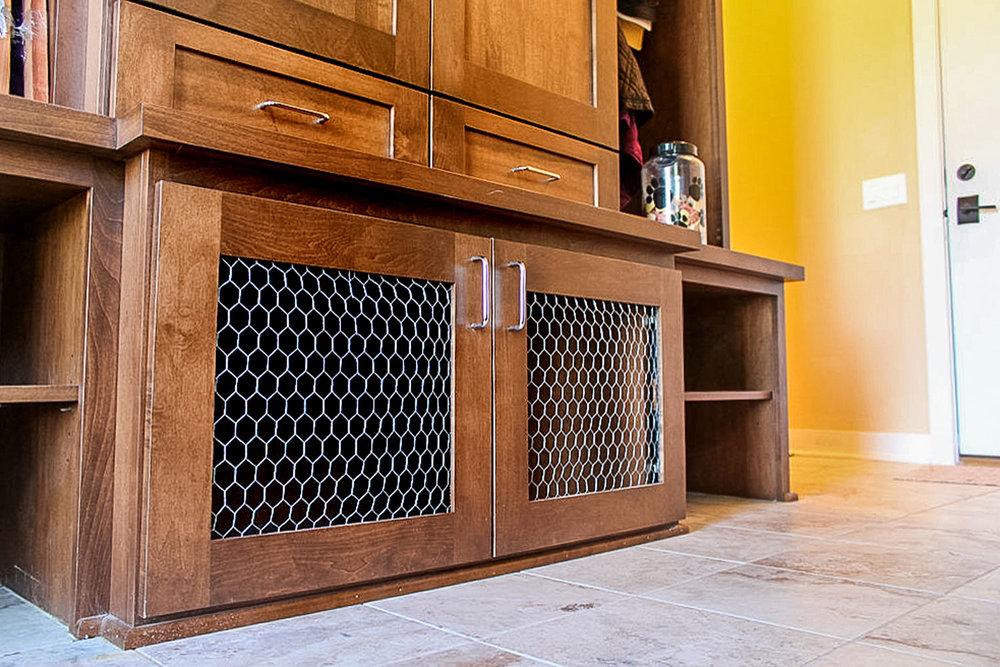 A built-in Pet Crate Design