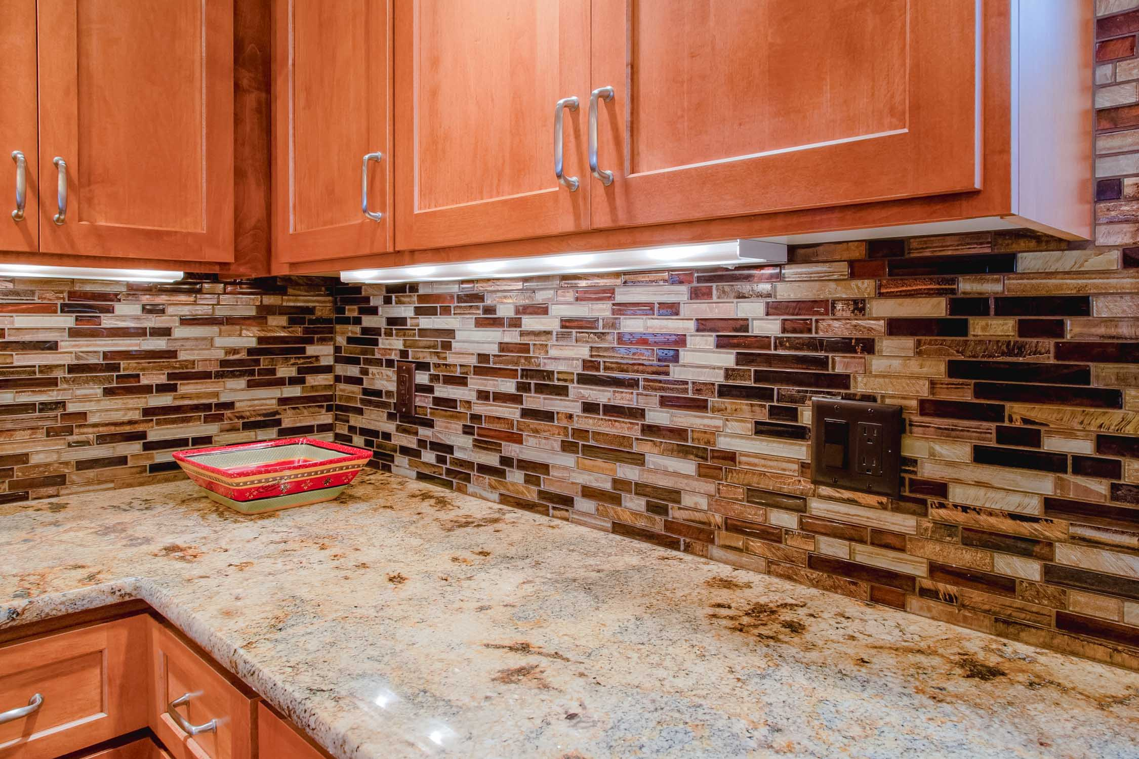 Multicolored Tile Backsplash