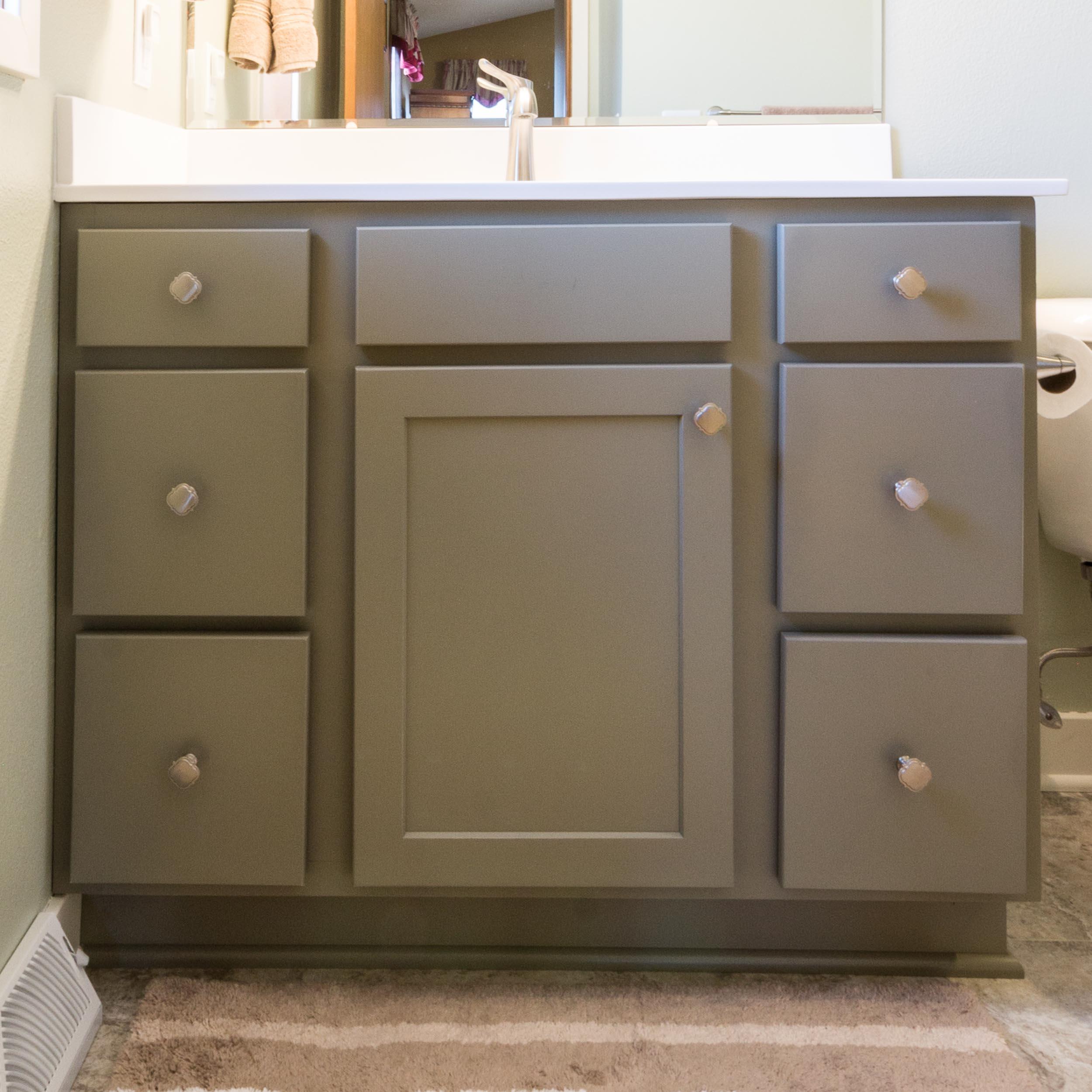 Painted Bathroom Vanity Home Remodeling Madison WI
