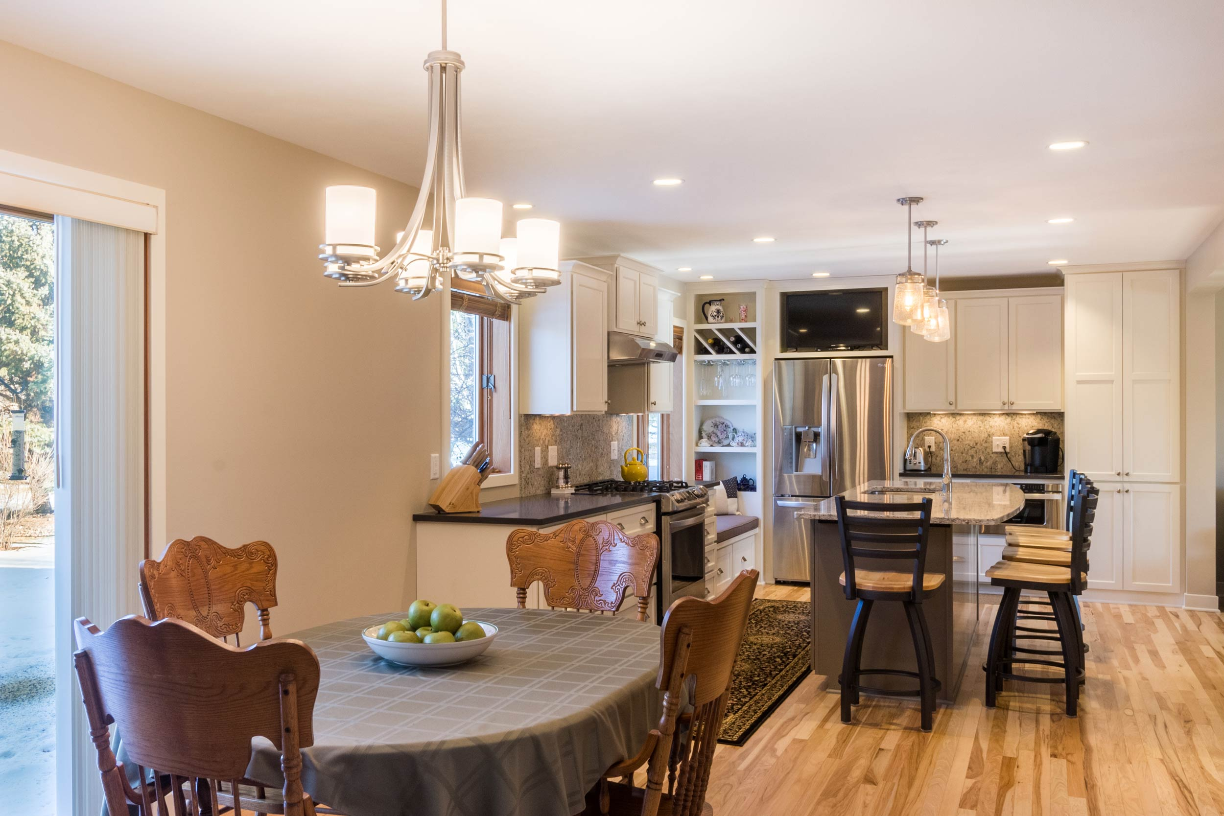 Open Kitchen and Dining Room Design Madison, WI