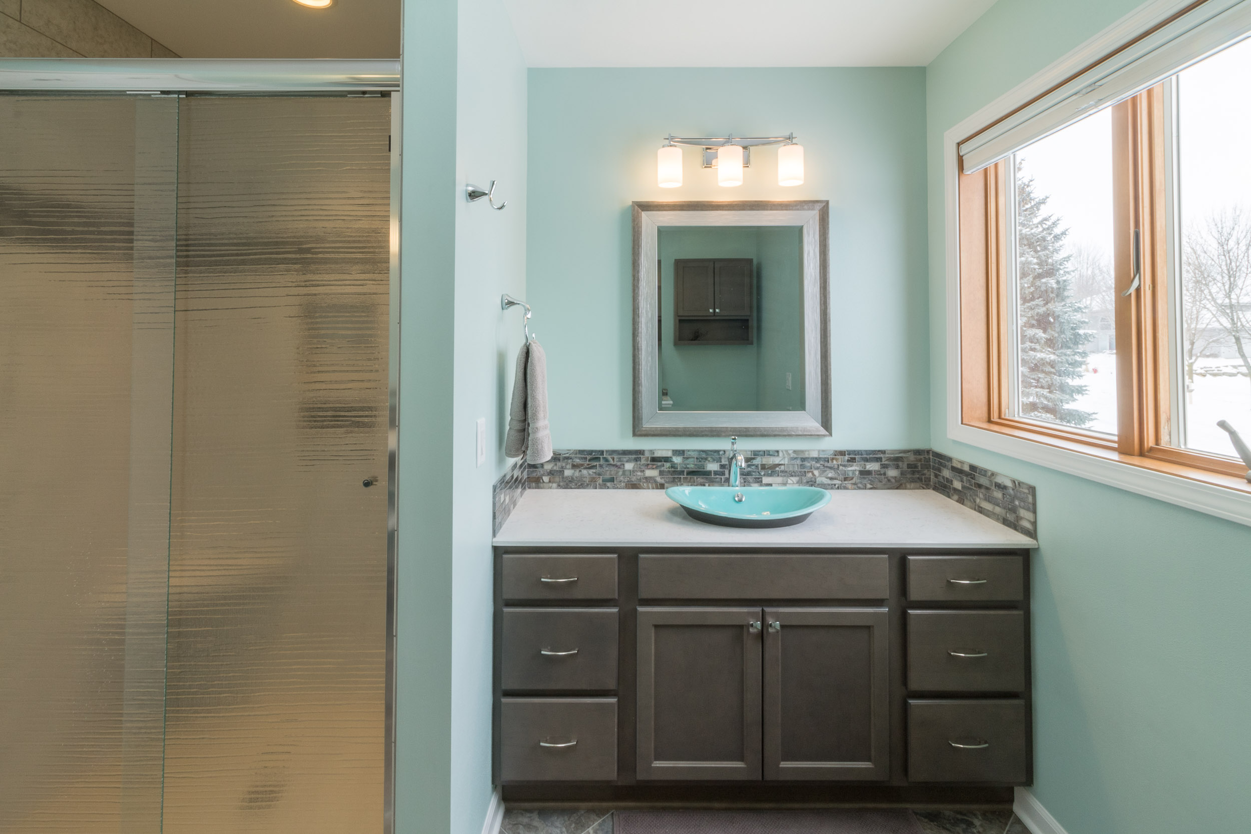 The Second Vanity In This Bathroom Remodel.