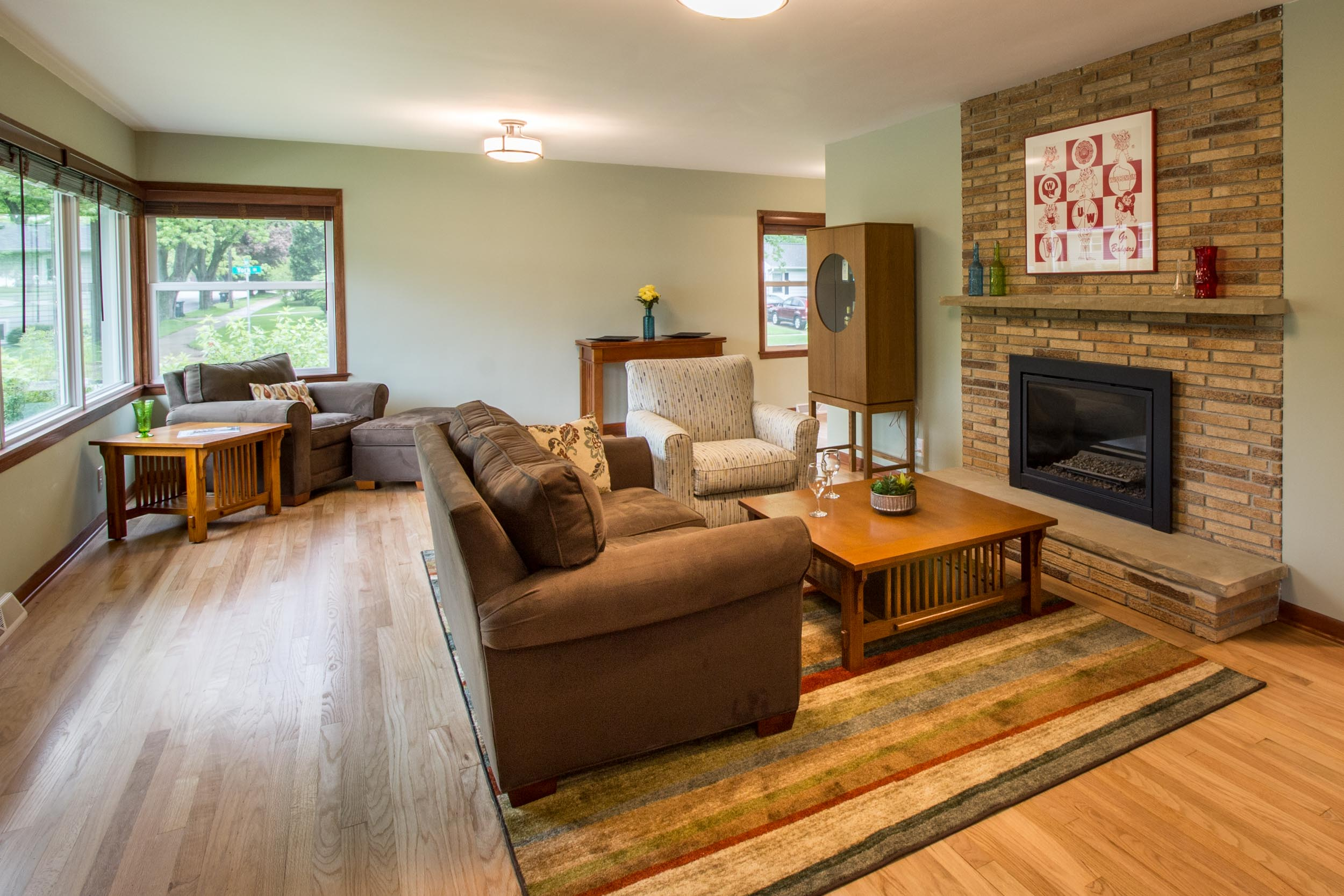 Living Room Renovation with Fireplace Midvale Heights Madison, WI