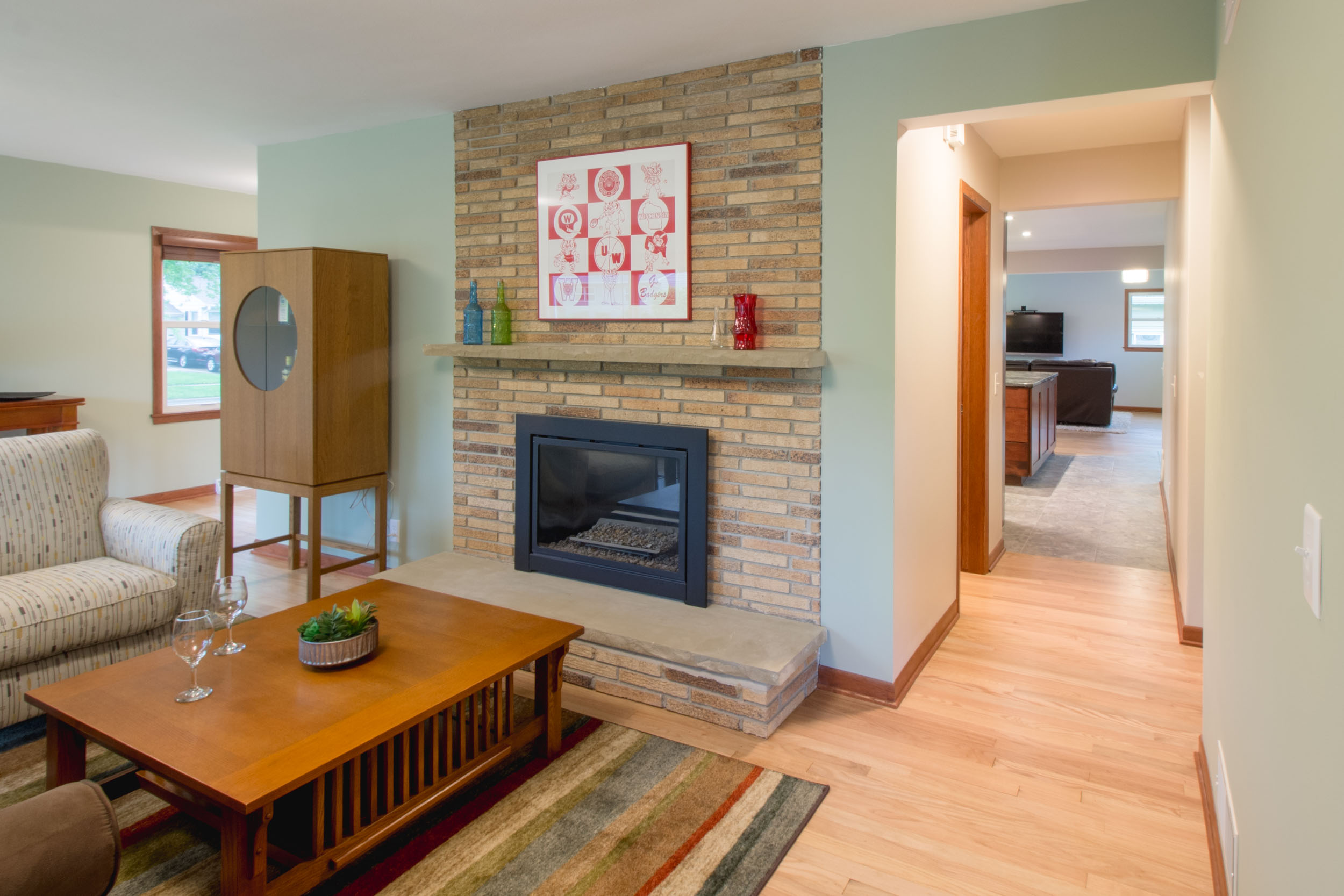 Ranch Home Living Room Redesign Midvale Heights Madison, WI