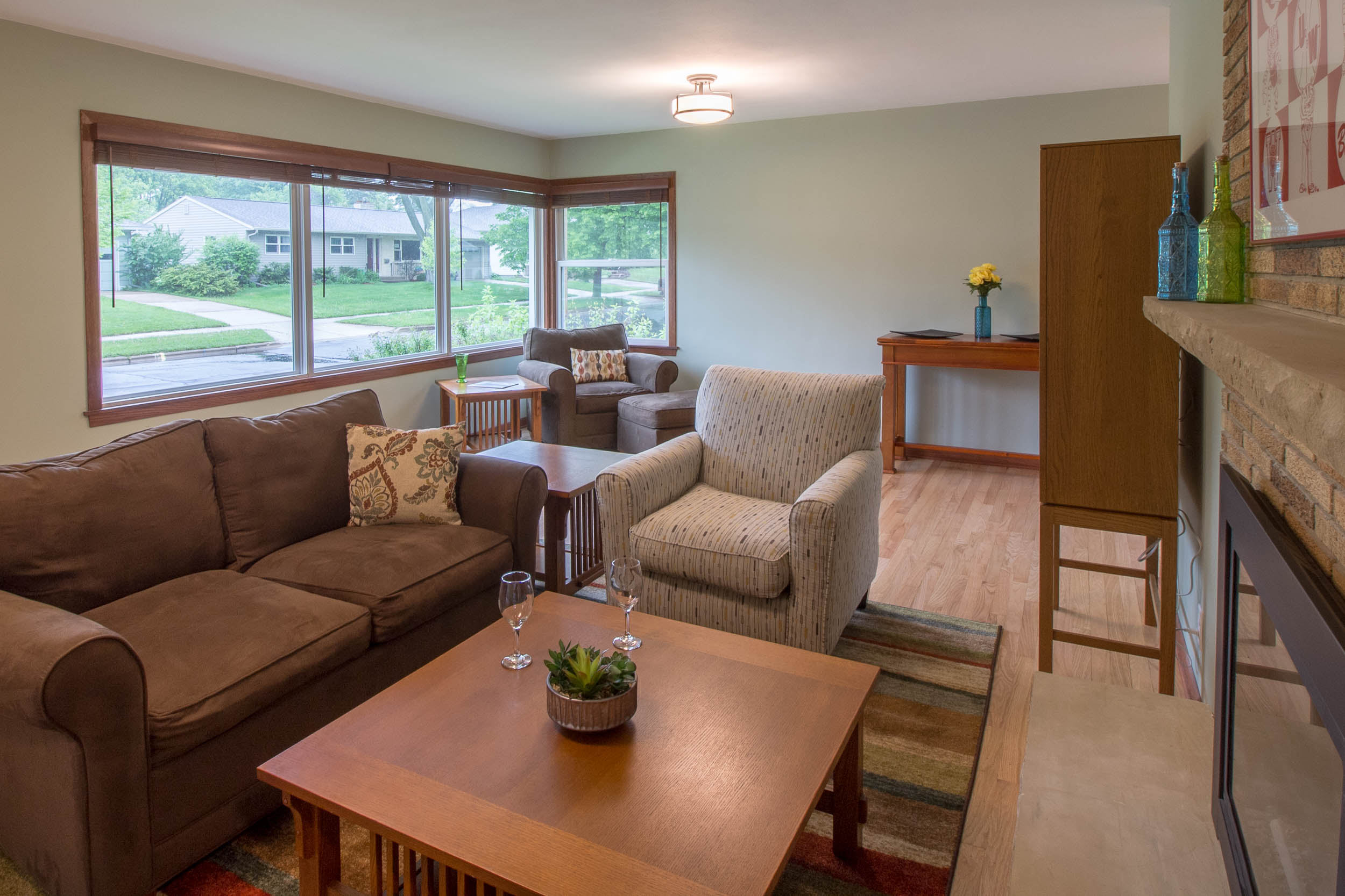 Living Room Remodel with large Windows Midvale Heights Madison, WI