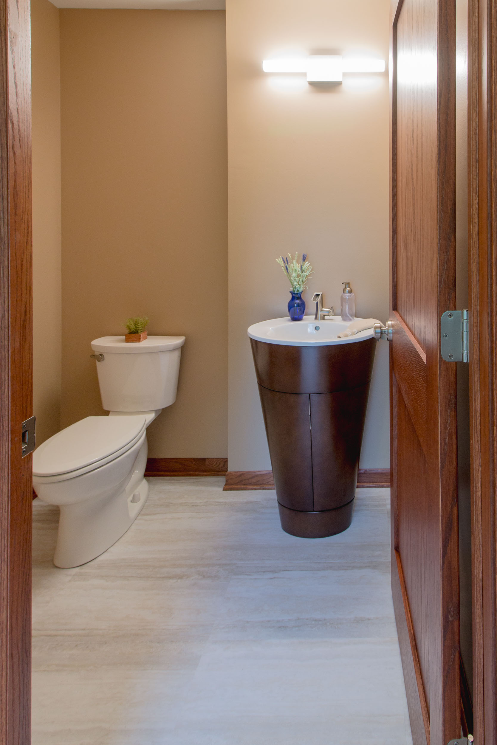 contemporary Powder Room Design and Remodel, Midvale Heights, Madison, WI