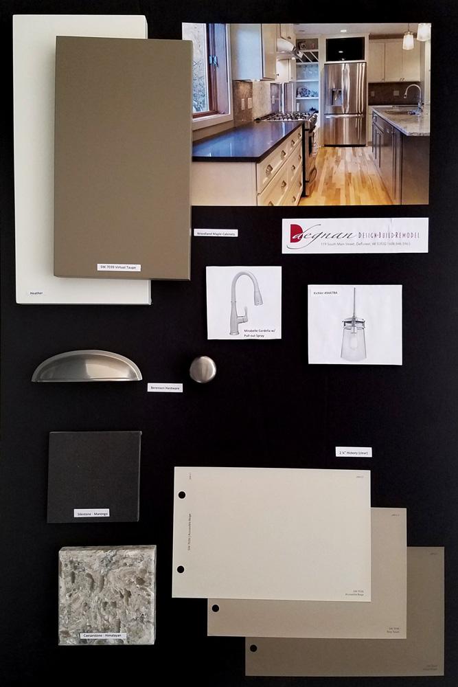 Degnan Design-Build-Remodeling Design Borad for a kitchen design