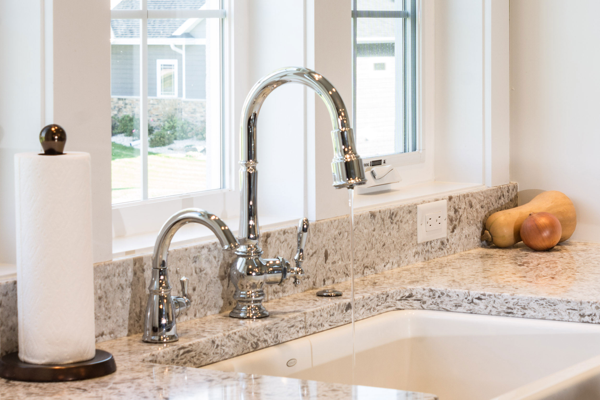 Kohler Whitehaven Apron Style Kitchen Sink and Kohler Artifacts Faucet