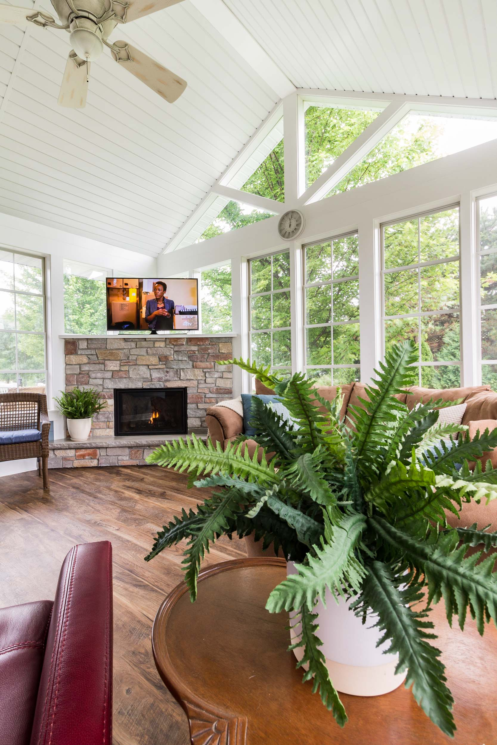 This New Three Season Porch Is Designed With A Connection To A Deck And Patio