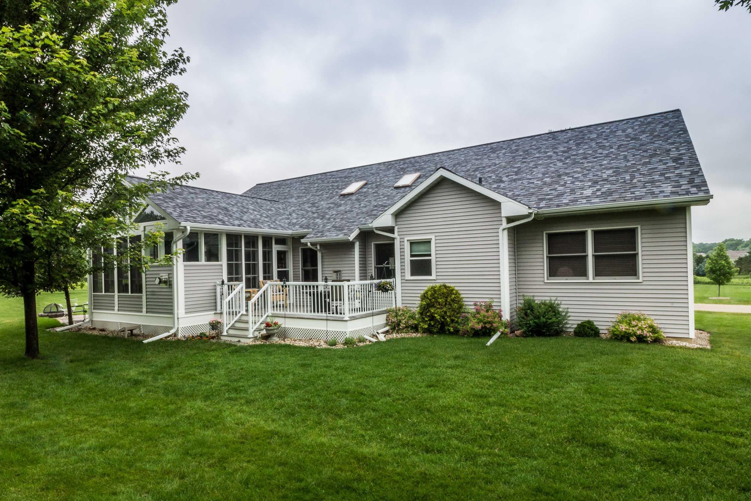 Three Season Porch Home Addition with Adjacent Deck