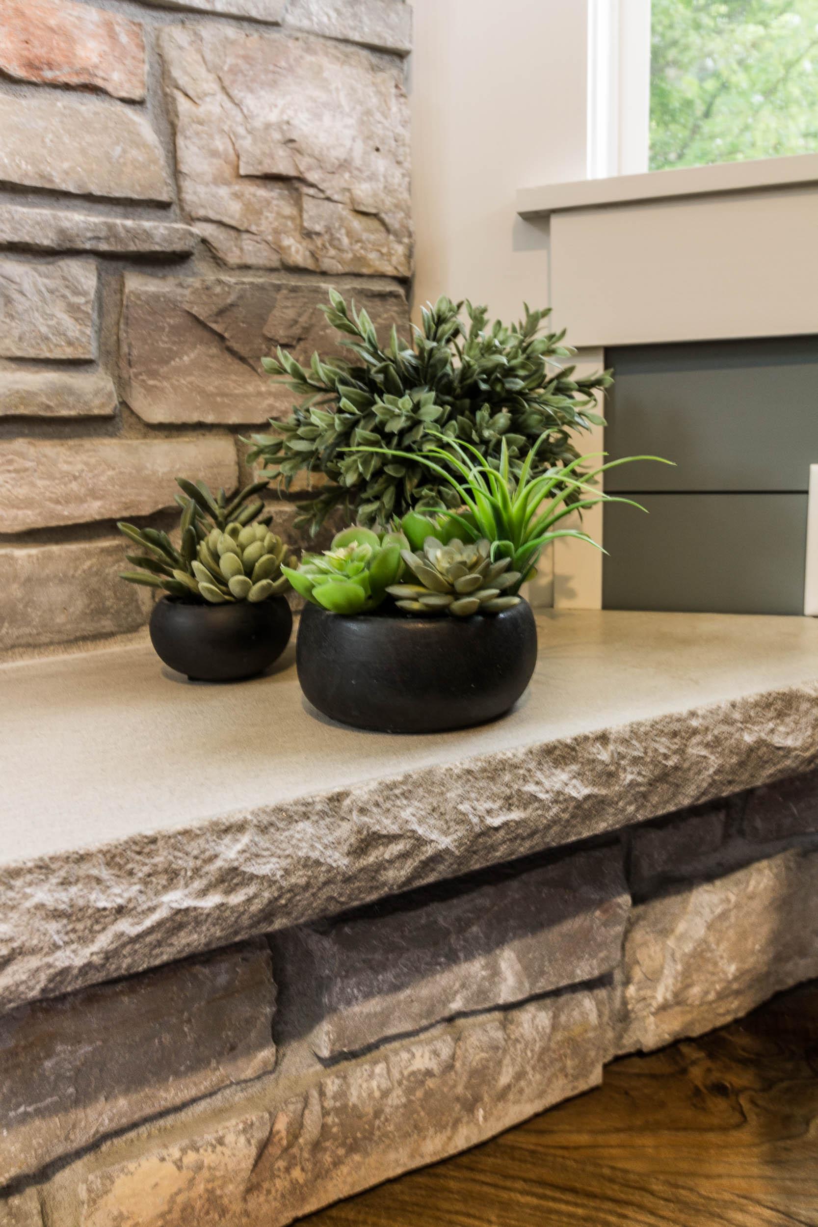 Halquist Maple Bluff Natural Stone Veneer Fireplace Surround