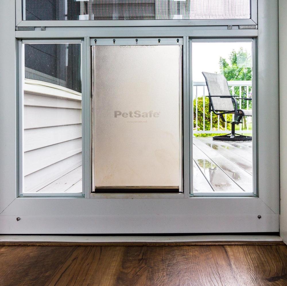 Three Season Porch With Doggie Door Deck Access