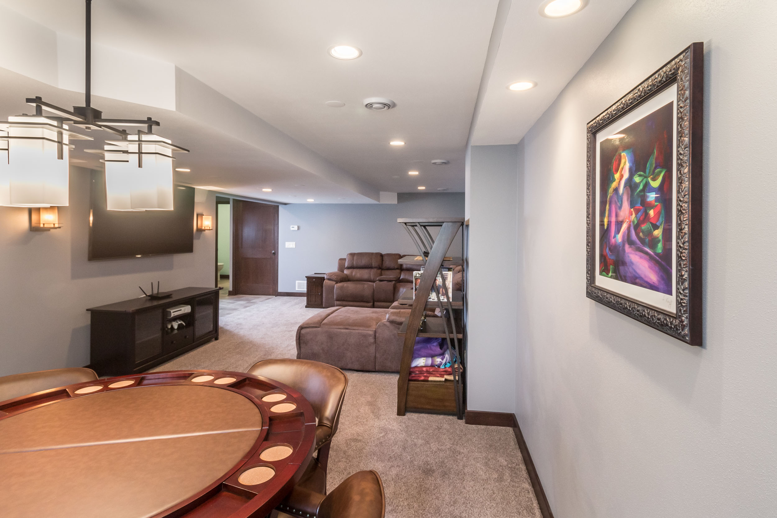 This Finished Basement Integrates With The Rest Of The Home