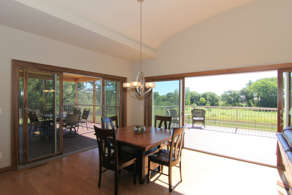 Big Patio Door Openings - When open, the 4-panel patio doors provide an expansive connection from indoors to outdoors. If you want to feel connected, this option provides the best value.