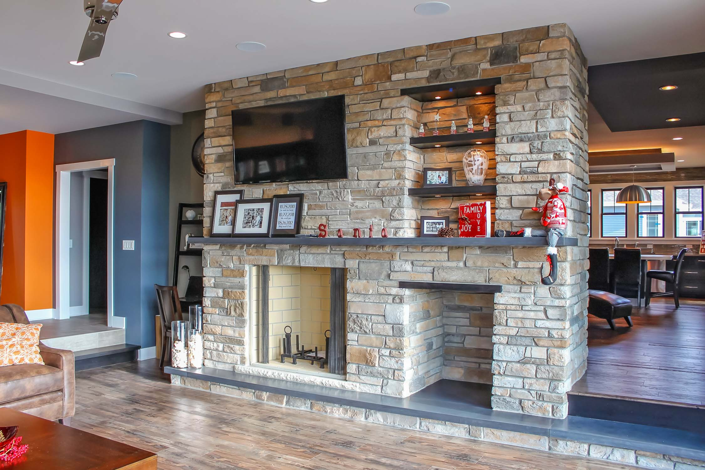 Choosing a fireplace when remodeling a home.