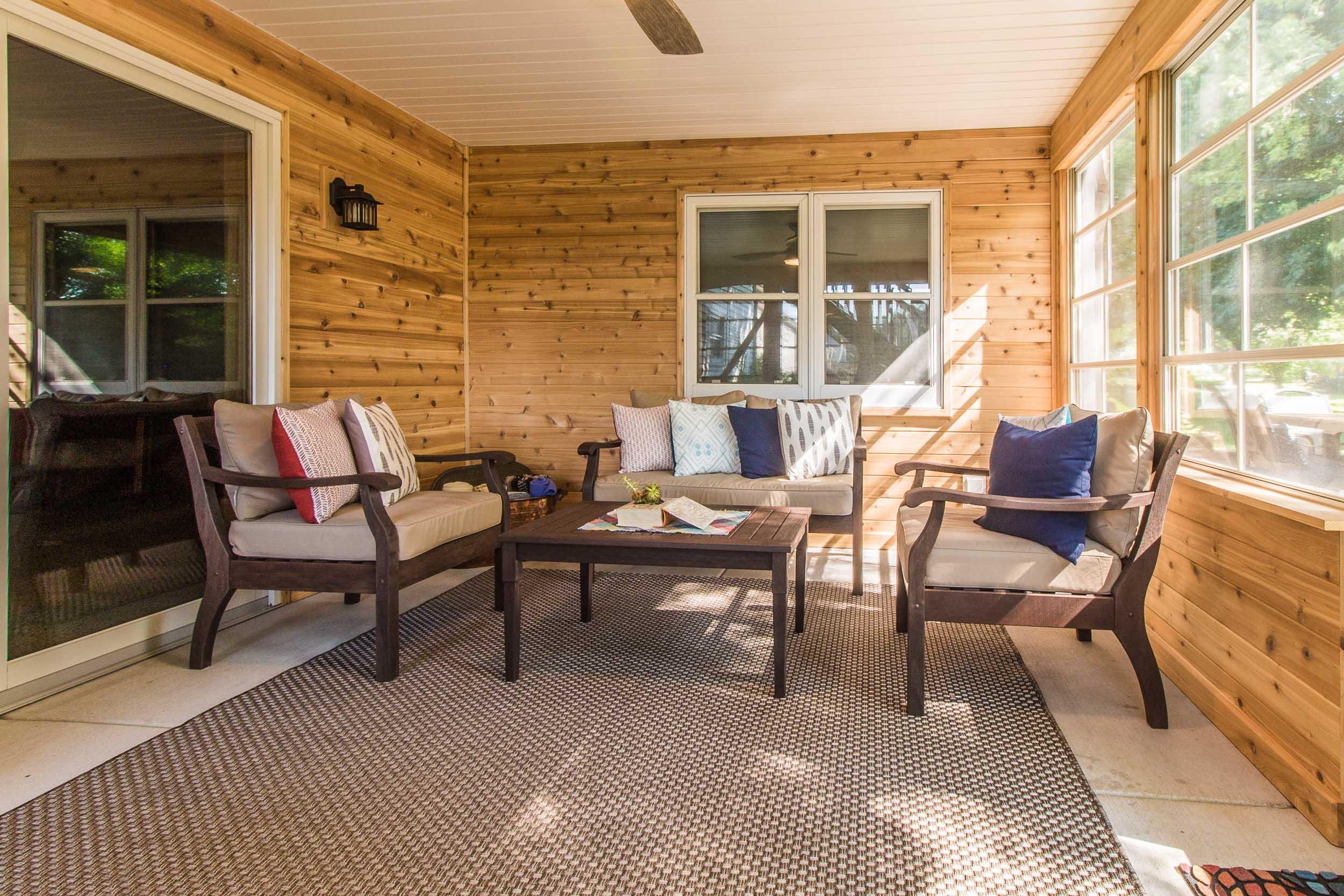 Three Season Porch Home Renovation DeForest, Wisconsin