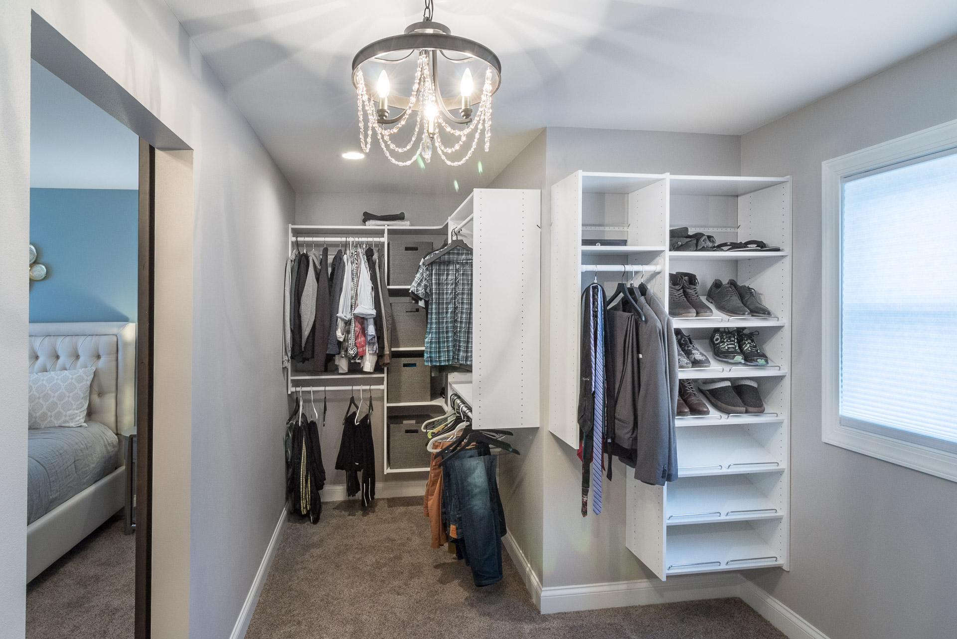 Master Suite Walk-in Closet with Window