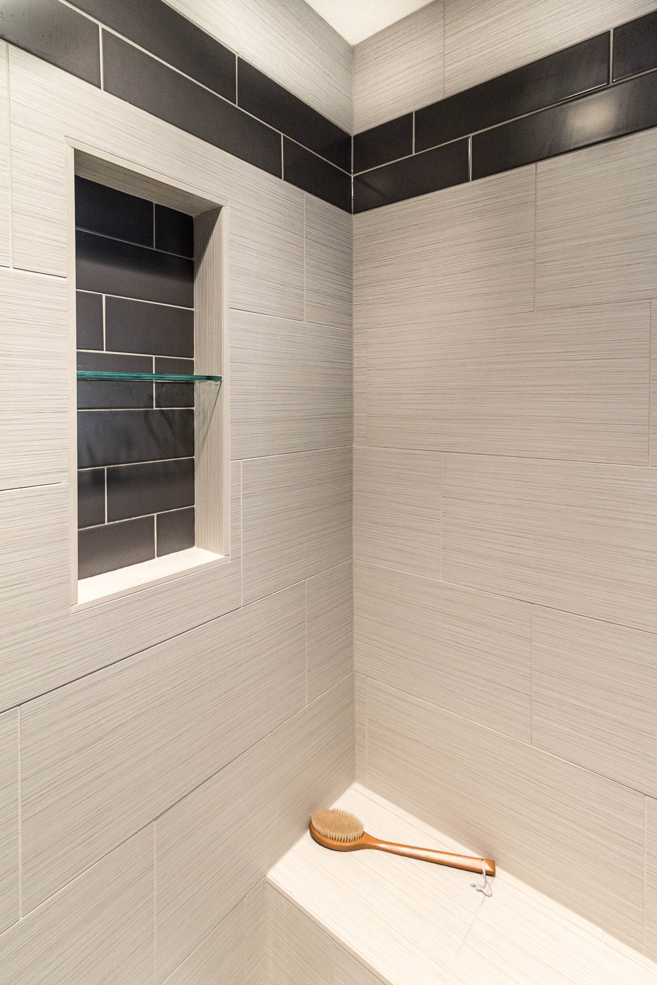 Mster Suite Remodel; Walk In Shower with Seating